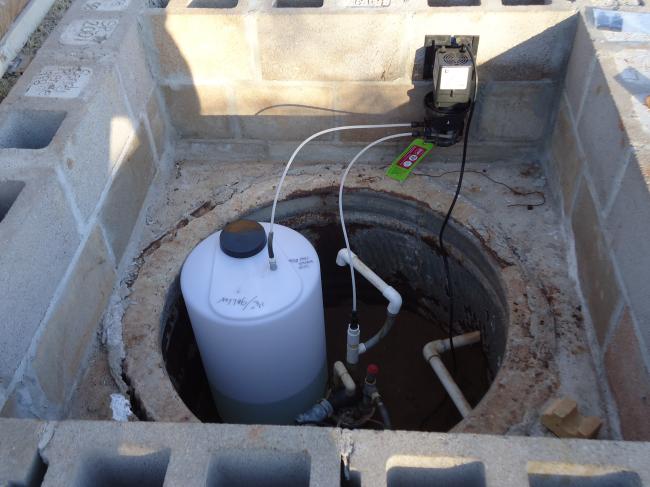 stenner-chlorinator-installation