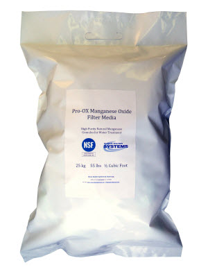 Pro-OX iron filter media available in 1/2 cubic foot bags, and also 1 ton super-sacks.