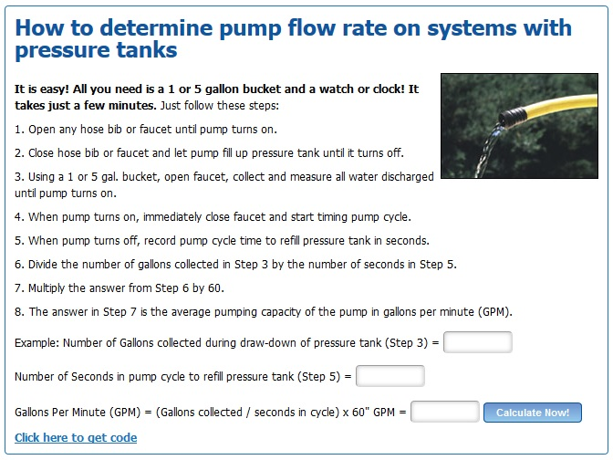 pump flow rate calculator