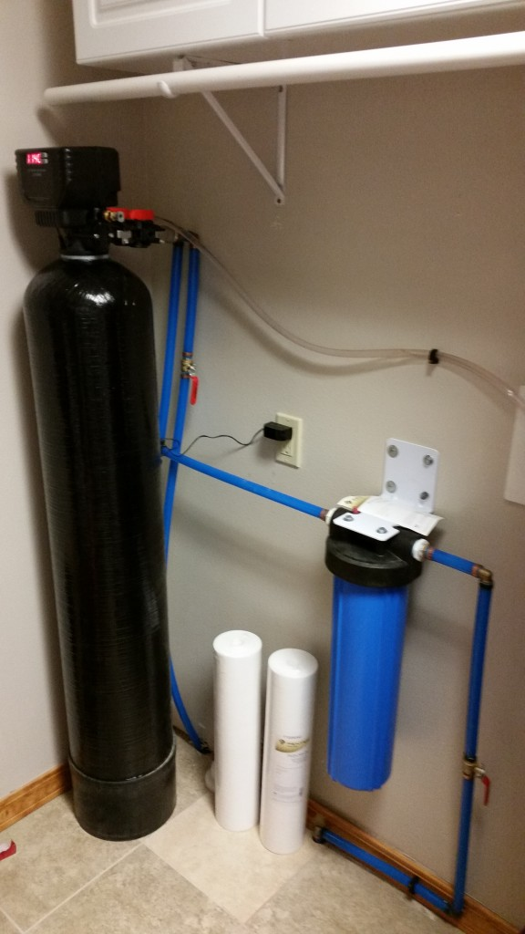 Sediment Backwash Well Water Filter and Dual Grade 25/1 Micron Big Blue Housing