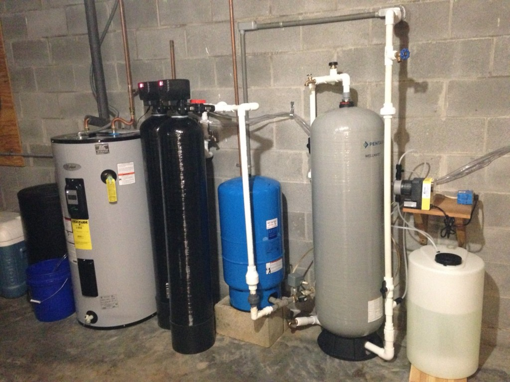 multiple filter system - softener, carbon, chlorinator