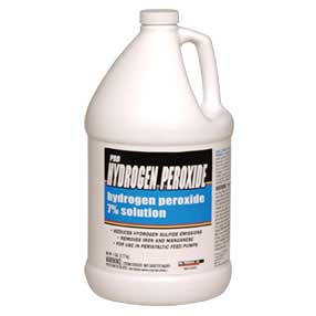 What strength of hydrogen peroxide do you recommend to replace bleach?