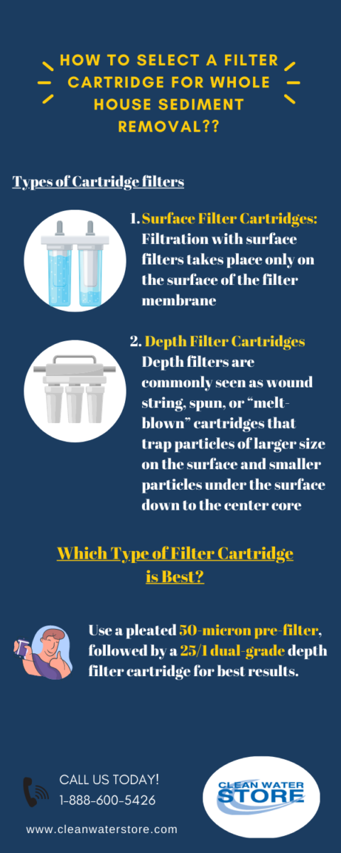 water filter cartridge for home infographic