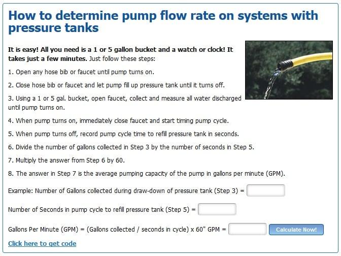 pump flow rate calculator