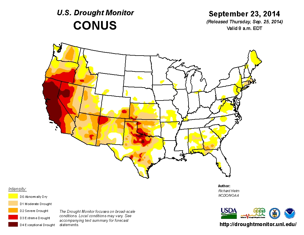 Top 10 States Affected by the Drought in the U.S.