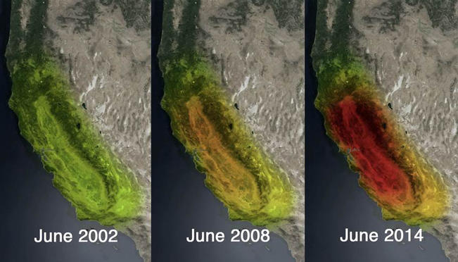 New, Striking Images From NASA Show California Groundwater Loss