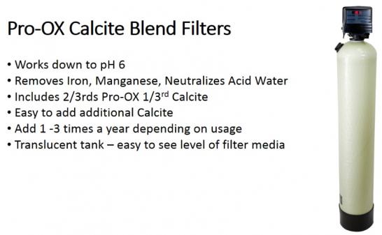 remove iron, neutralize acid water