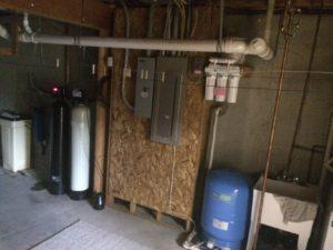 iron filter in basement