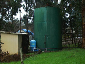 chlorinate storage tanks