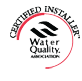 WQA certified water systems installer