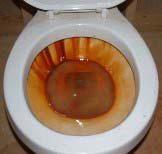 how to clean rust from inside toilet tank