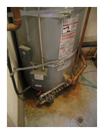 water heater corroded
