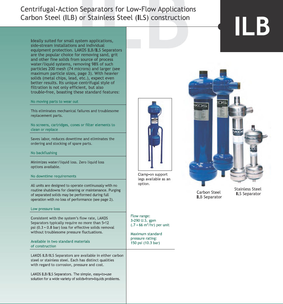 Lakos Centrifigal Separators ILB