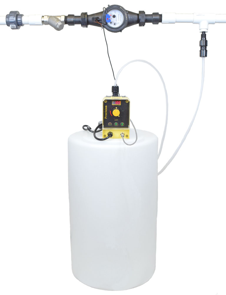 home well pump systems proportional feed soda ash system 1 110v w solution tank cws