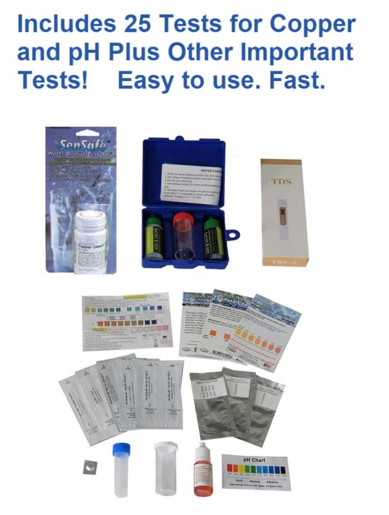 Copper well water test kit